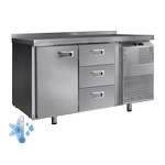 Универсальные холодильные столы с дверями и ящиками