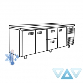 Универсальный холодильный стол УХС-600-3/2