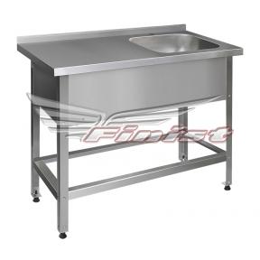 Ванна моечная односекционная со столом - цельнотянутая ВМНсц-1