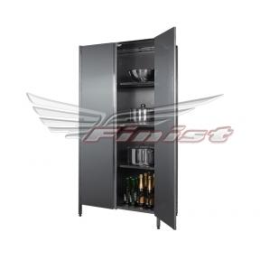 Шкаф нержавеющий с распашными дверями для инвентаря (оцин. сталь)