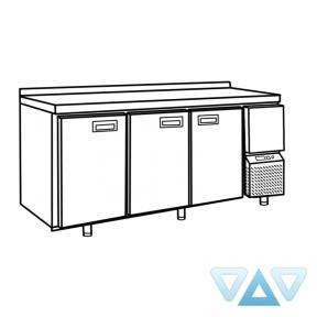 Стол холодильный СХСм-700-3