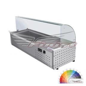 Настольная холодильная витрина «ToppingBox» с моллированным стеклом НХВсм
