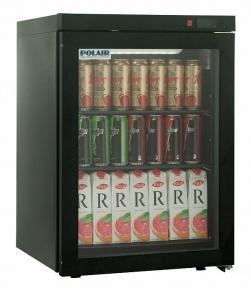 Холодильные шкафы со стеклянными дверьми DM102-Bravo черный