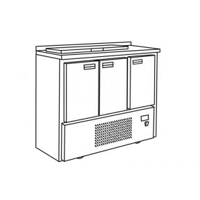 Холодильный стол для салатов СХСнс-700-3