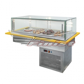 Встраиваемые горизонтальные кондитерские витрины Glassier812