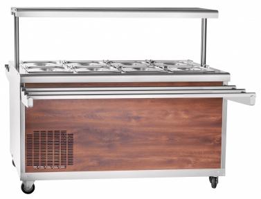 Прилавок холодильный высокотемпературный передвижной для самообслуживания ПВВ(Н)-70ПМ-01-НШ