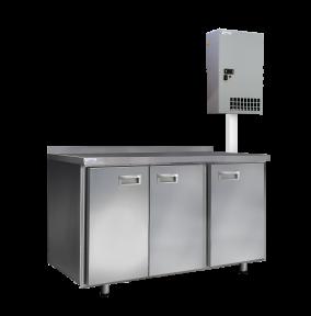 Среднетемпературные холодильные столы с настенным агрегатным блоком СХСан-700-3