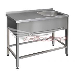 Ванна моечная односекционная со столом - цельнотянутая ВМПсц-1
