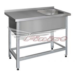 Ванна моечная односекционная со столом - цельнотянутая ВМЛсц-1