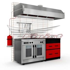 Система пожаротушения кухонного оборудования ROTAREX FIREDETEC F/K