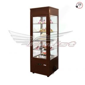 Вертикальная кондитерская холодильная витрина (нерж. сталь,стеклопакет) NATALY