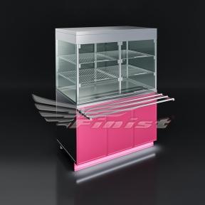 Прилавок-витрина тепловая (витрина+шкаф)
