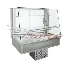 Встраиваемые горизонтальные кондитерские витрины Glassier Trapeze