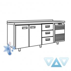Универсальный холодильный стол УХС-700-2/3