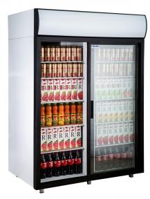 Холодильные шкафы Standard со стеклянными дверьми DM114Sd-S версия 2.0