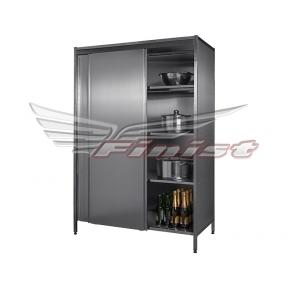 Шкаф нержавеющий с дверями купе для инвентаря (оцин. сталь)