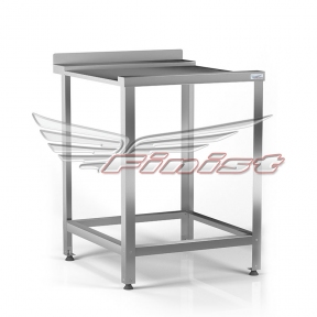 Стол приемный сварной для посудомоечной машины, столешница гладкая