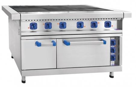 Плита электрическая шестиконфорочная с жарочным шкафом ЭП-6ЖШ