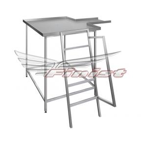 Стол нутровочный со склизом серии
