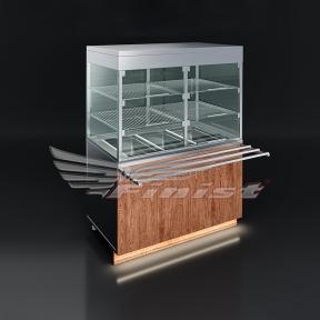 Прилавок-витрина для холодных закусок (с охлаждаемой ванной)