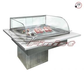 Встраиваемые горизонтальные кондитерские витрины Glassier Luxury