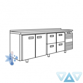 Универсальный холодильный стол УХС-600-2/4