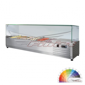 Настольная холодильная витрина «ToppingBox» с прямоугольным стеклом НХВсп