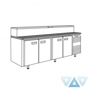 Стол холодильный для пиццы СХСпцг-700-4