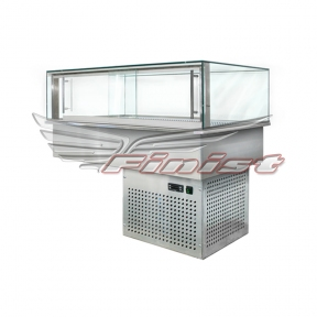 Встраиваемые горизонтальные кондитерские витрины Glassier58