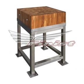 Колода для рубки мяса с деревянной поверхностью (бук)