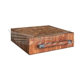 Колода для рубки мяса настольная с деревянной поверхностью (бук)